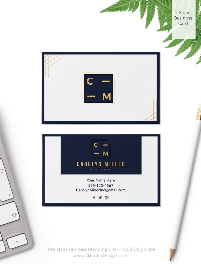 A-Professional-and-Contemporary-Business-Card-Design-via-this-Pre-Made-Branding-Kit-from-C-Monica-Design-Studio