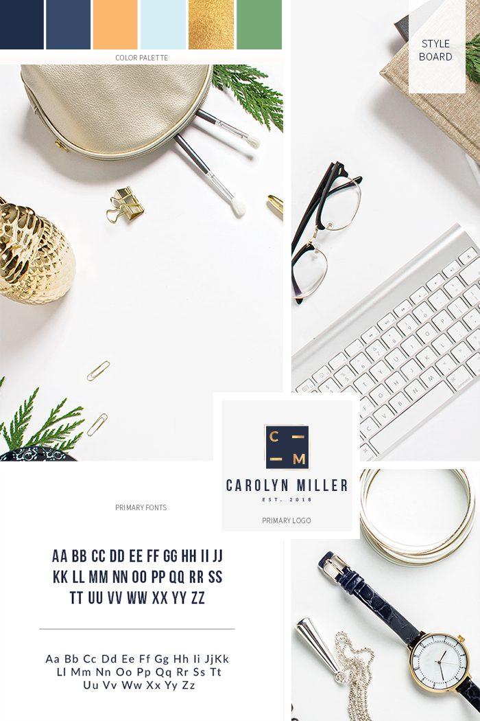 A-Professional-and-Contemporary-Style-Board-via-this-Pre-Made-Branding-Kit-from-C-Monica-Design-Studio