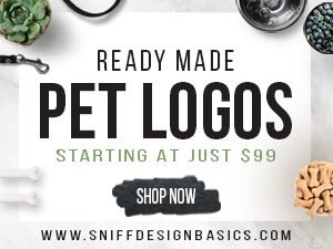 pre-made pet business logos for sale by Sniff Design Basics