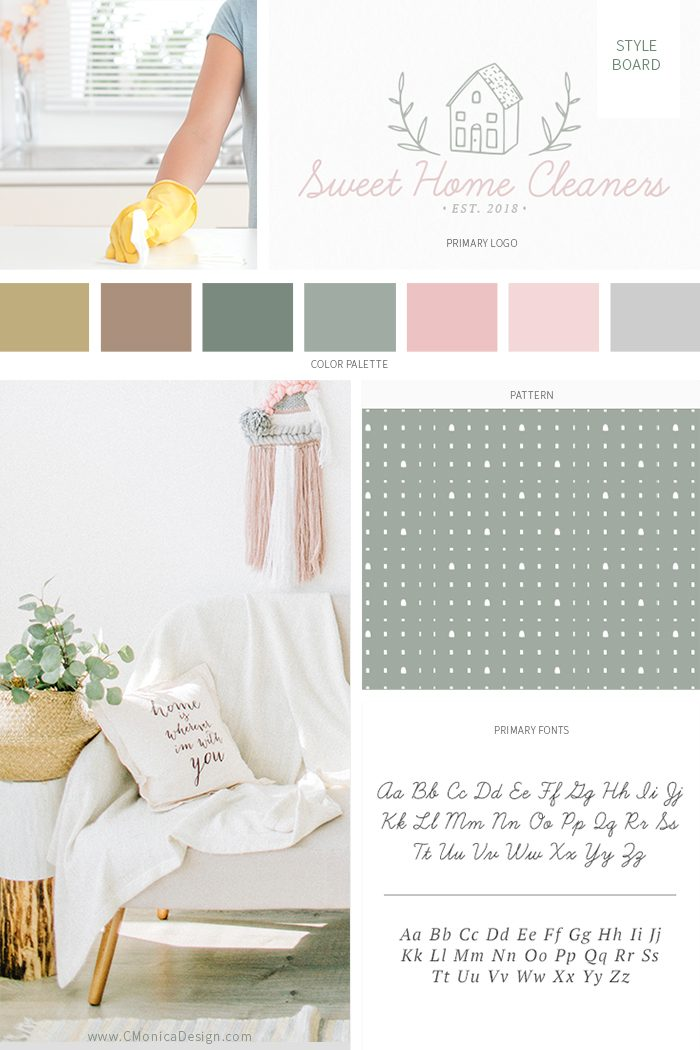Sweet-Home-Cleaners-Style-Board-via-this-Pre-Made-Branding-Kit