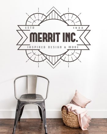 Classy art deco logo design from our vintage themed pre-made branding kit by C Monica Design Studio