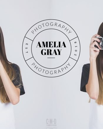 Contemporary photography logo design from our pre-made branding kit by C Monica Design Studio